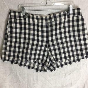 J. Crew gingham scalloped edge shorts